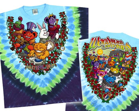 Wonderland Jam Band tie-dye T-shirt