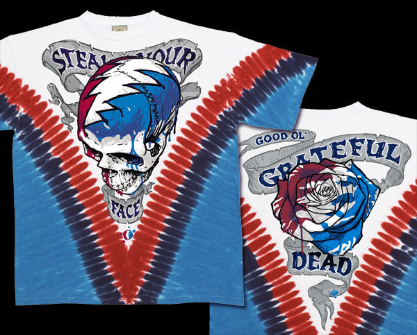 Steal Your Face V-Dye tie-dye T-shirt