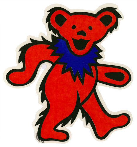 Dancing Bear - Red die-cut decal