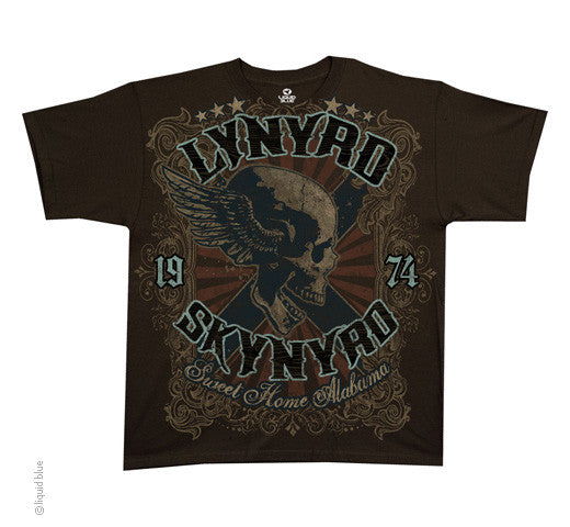 Skynyrd - Sweet Home Alabama brown athletic fit T-shirt