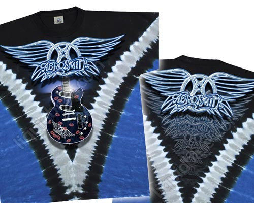 Aerosmith Guitar tie-dye T-shirt