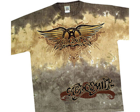 Aerosmith Ray Logo tie-dye T-shirt