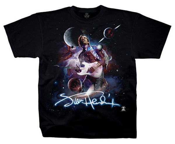 Hendrix Space black T-shirt