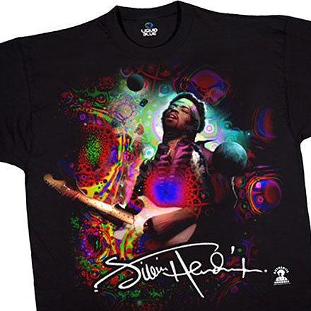 Jimi Hendrix - Angel black athletic fit T-shirt