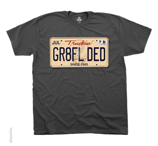GR8FL DED grey T-shirt