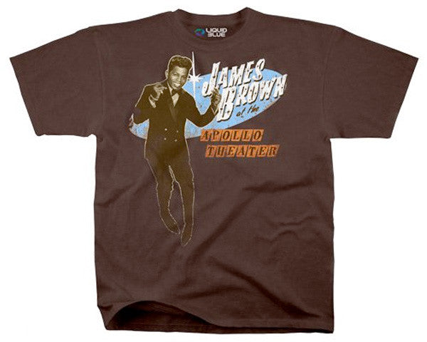 James Brown - Live At The Apollo brown athletic fit T-shirt