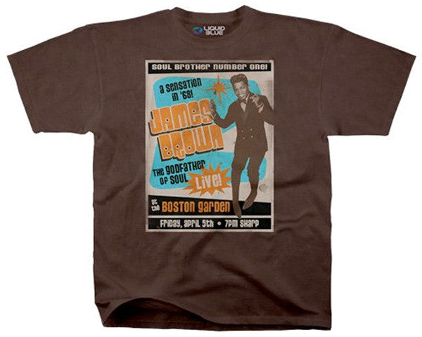 James Brown - Soul Brother #1 brown athletic fit T-shirt
