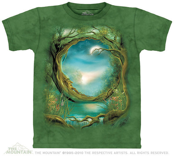 Moon Tree tie-dye T-shirt