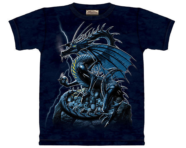 Skull Dragon tie-dye T-shirt