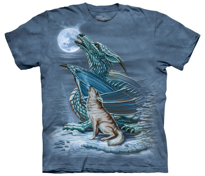 Dragon Wolf Moon tie-dye T-shirt