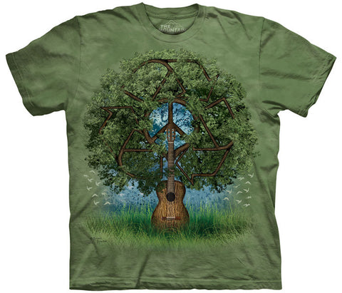 Guitar Tree tie-dye T-shirt