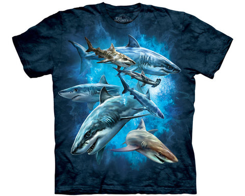 Shark Collage youth shirt