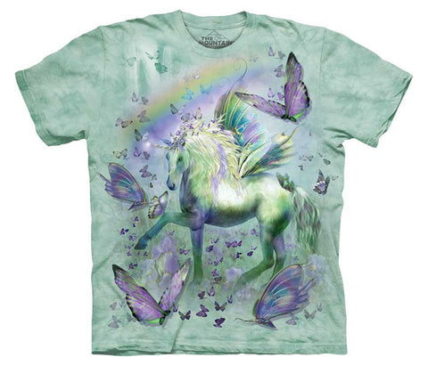 Unicorn And Butterflies youth shirt