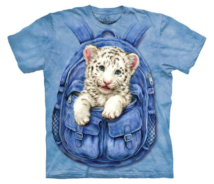 Backpack White Tiger youth shirt