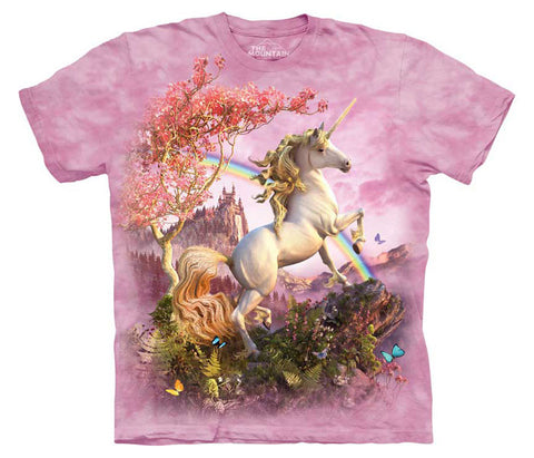 Awesome Unicorn tie-dye T-shirt