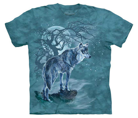 Wolf Tree Silhouette youth shirt
