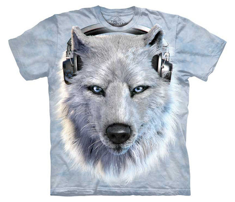 White Wolf Dj youth shirt