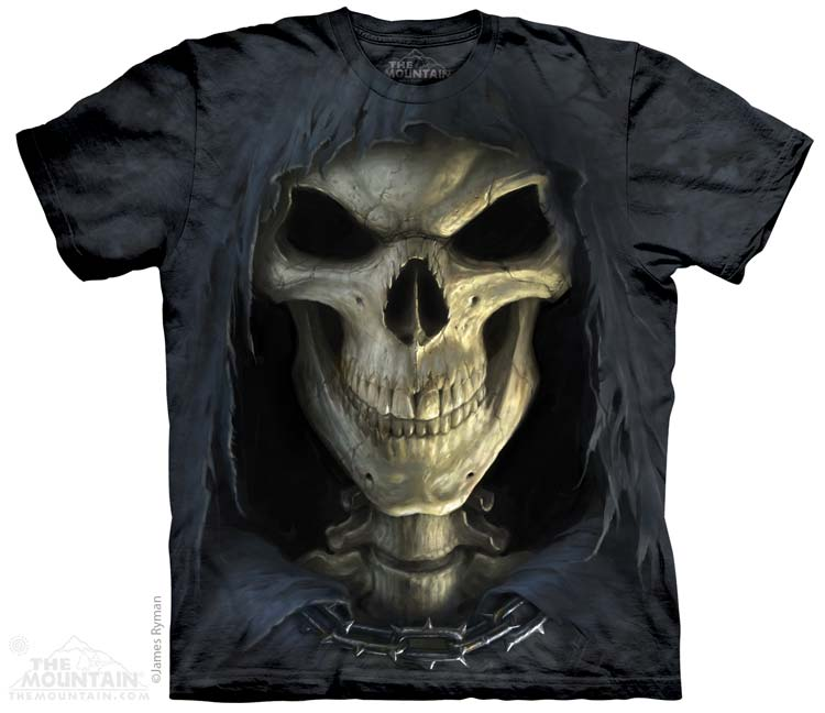 Big Face Death tie-dye T-shirt - M