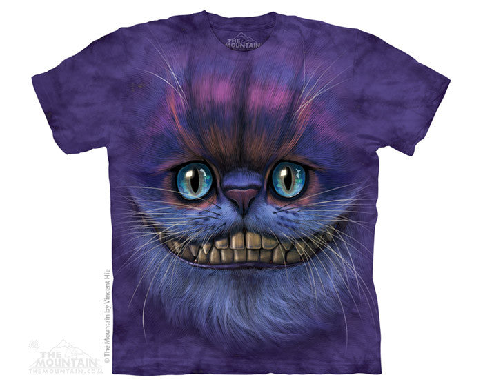Big Face Cheshire Cat tie-dye T-shirt