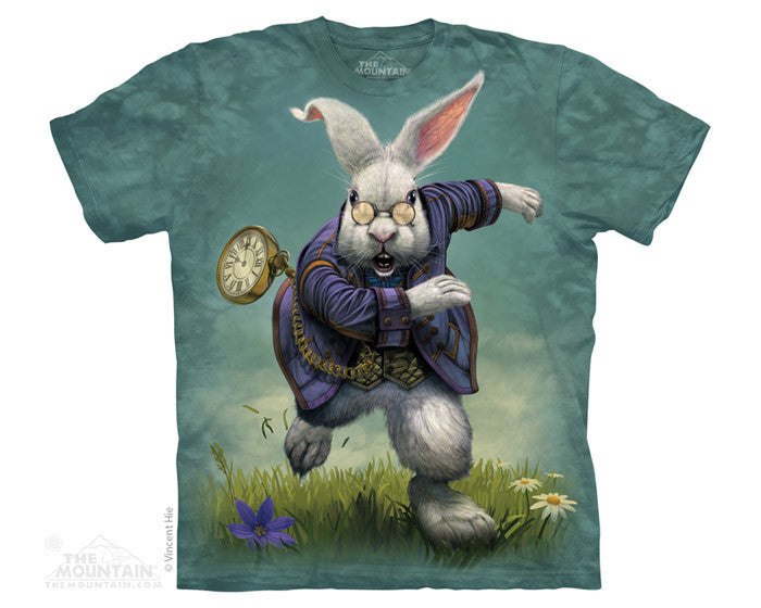 White Rabbit tie-dye T-shirt