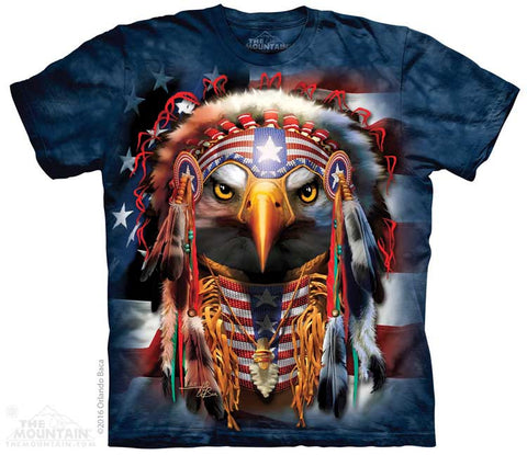 Native Patriot Eagle tie-dye T-shirt