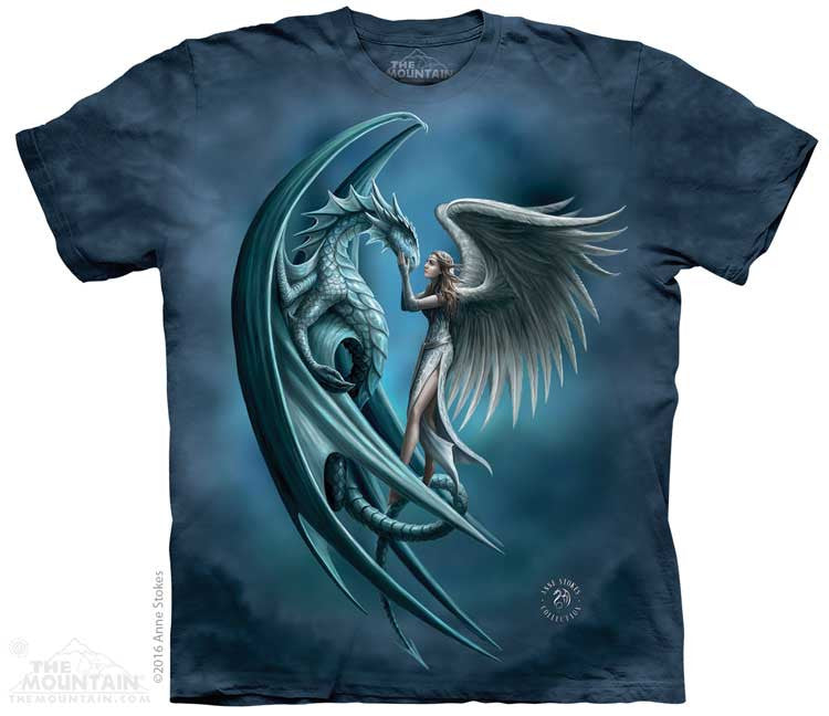 Angel & Dragon tie-dye T-shirt