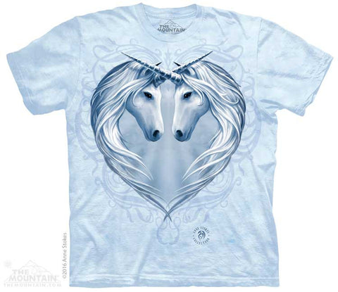 Unicorn Heart tie-dye T-shirt