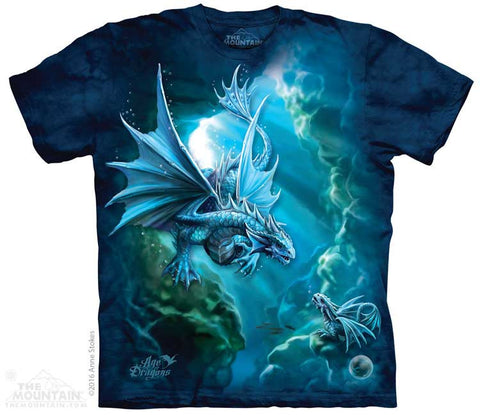 Sea Dragon tie-dye T-shirt