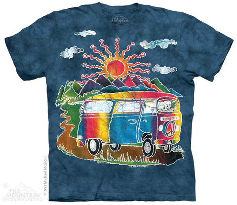 Batik Tour Bus tie-dye T-shirt