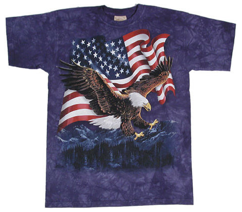 Eagle Talon Flag tie-dye T-shirt