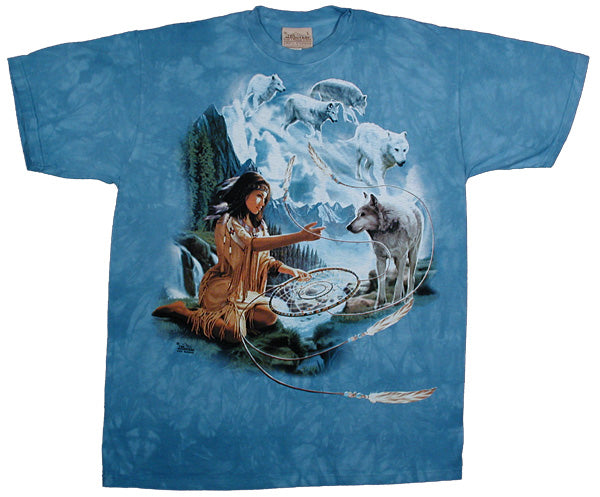 Dreams Of The Wolf Spirit tie-dye T-shirt - XXL