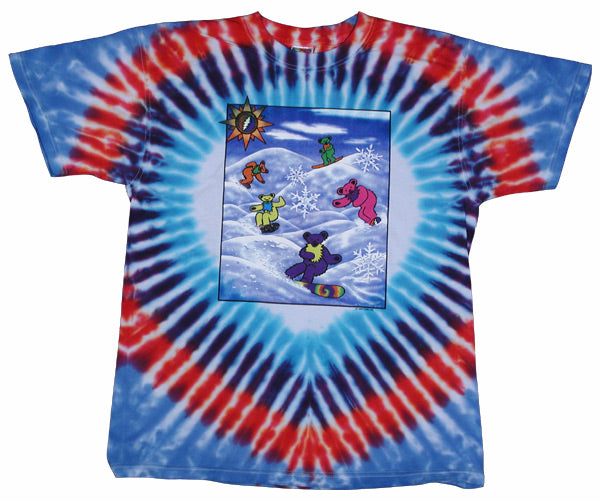 Snow Bears tie-dye T-shirt