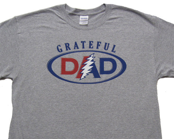 Grateful Dad Grey Heather T-Shirt