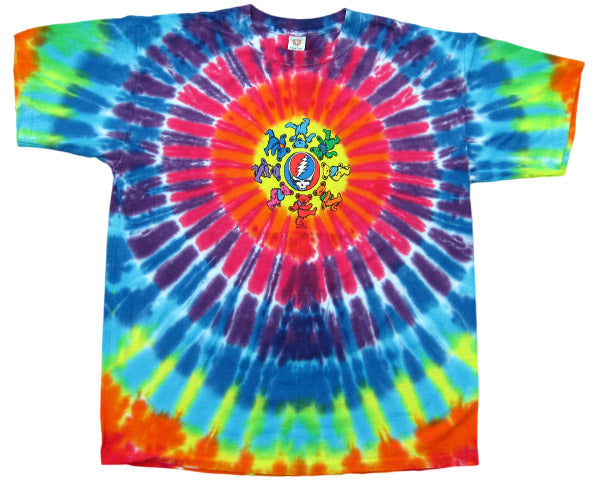 Bears Around Your Face tie-dye T-shirt