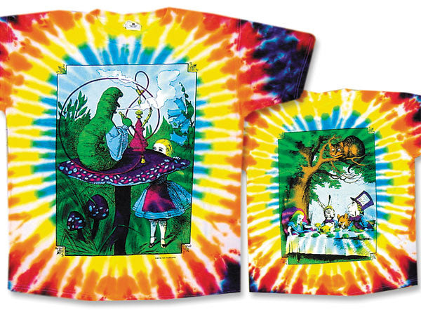 Alice In Wonderland tie-dye T-shirt