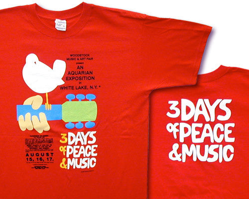 Woodstock Poster red T-shirt