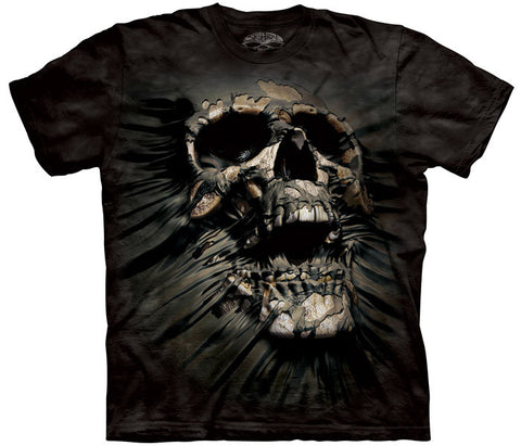 Breakthrough Skull tie-dye T-shirt