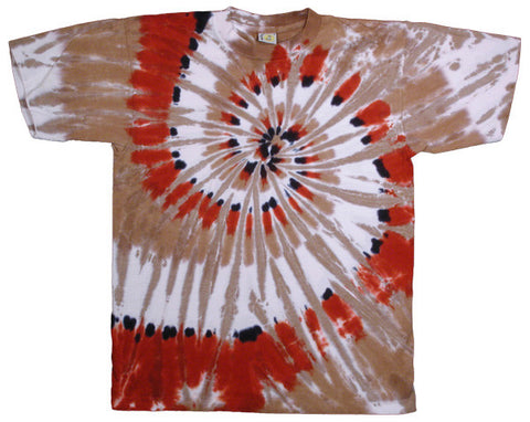 Canyon Feather Spiral tie-dye T-shirt