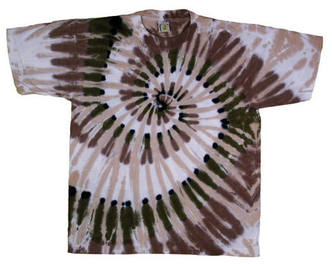 Sage Feather Spiral tie-dye T-shirt