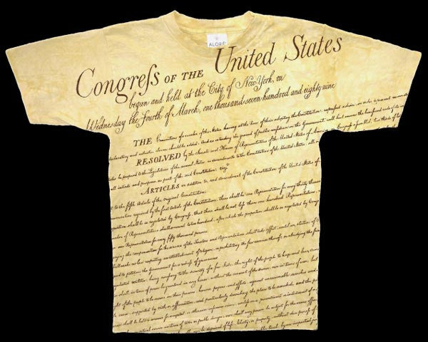 Bill Of Rights parchment dye T-shirt
