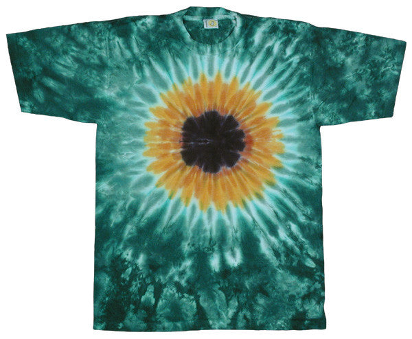 Green Sunflower tie-dye T-shirt