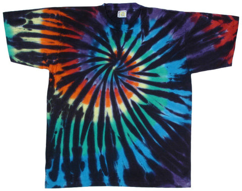 Stained Glass Spiral tie-dye T-shirt