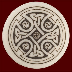 Celtic Cross Round Pendant