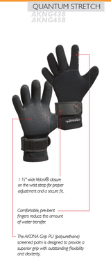 Akona Gloves - 3mm Quantum Stretch