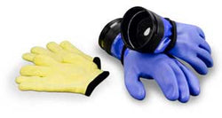 DUI Blue ZIP Gloves, Heavy Duty