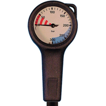 Trident Dive Equipment Slim Line Single Pressure Gauge, Metric