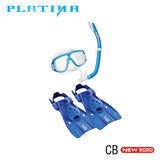 TUSA Platina Hyperdry Snorkel, Mask and Fins Combo Set
