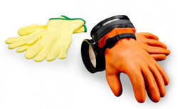 DUI Orange ZIP Dry Gloves