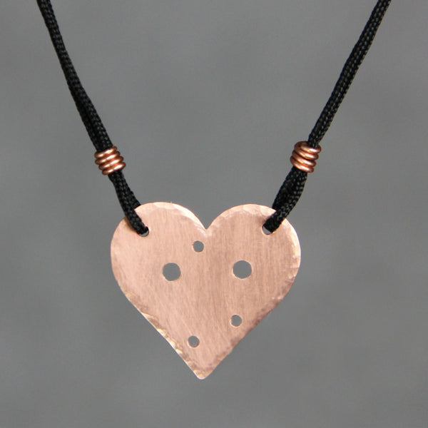 Personalized 14k rose gold constenllation heart silk thread pendant necklace copper Bridesmaids gifts Free US Shipping handmade Anni Designs - Anni Designs