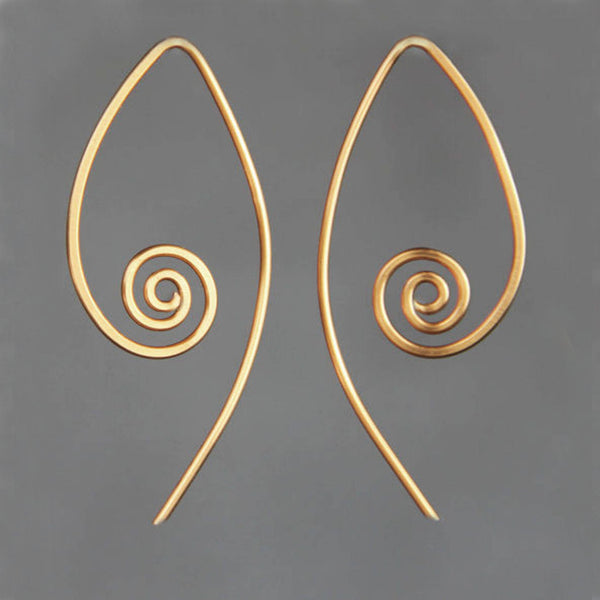 5.99-9.99 dollars Copper scroll hoop earrings Bridesmaids gifts Free US Shipping handmade Anni designs - Anni Designs